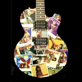 2008 PLAYBOY COVERS COLLAGE GUITAR