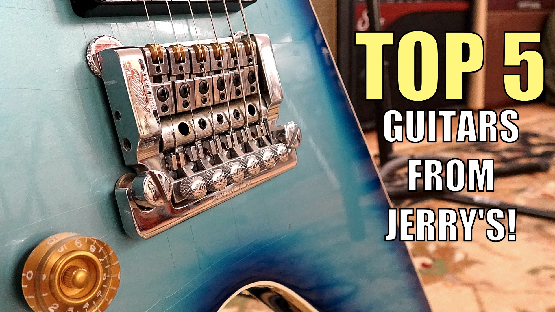 My Top 5 Electric Guitars I Played at Jerry's Lefty Guitars