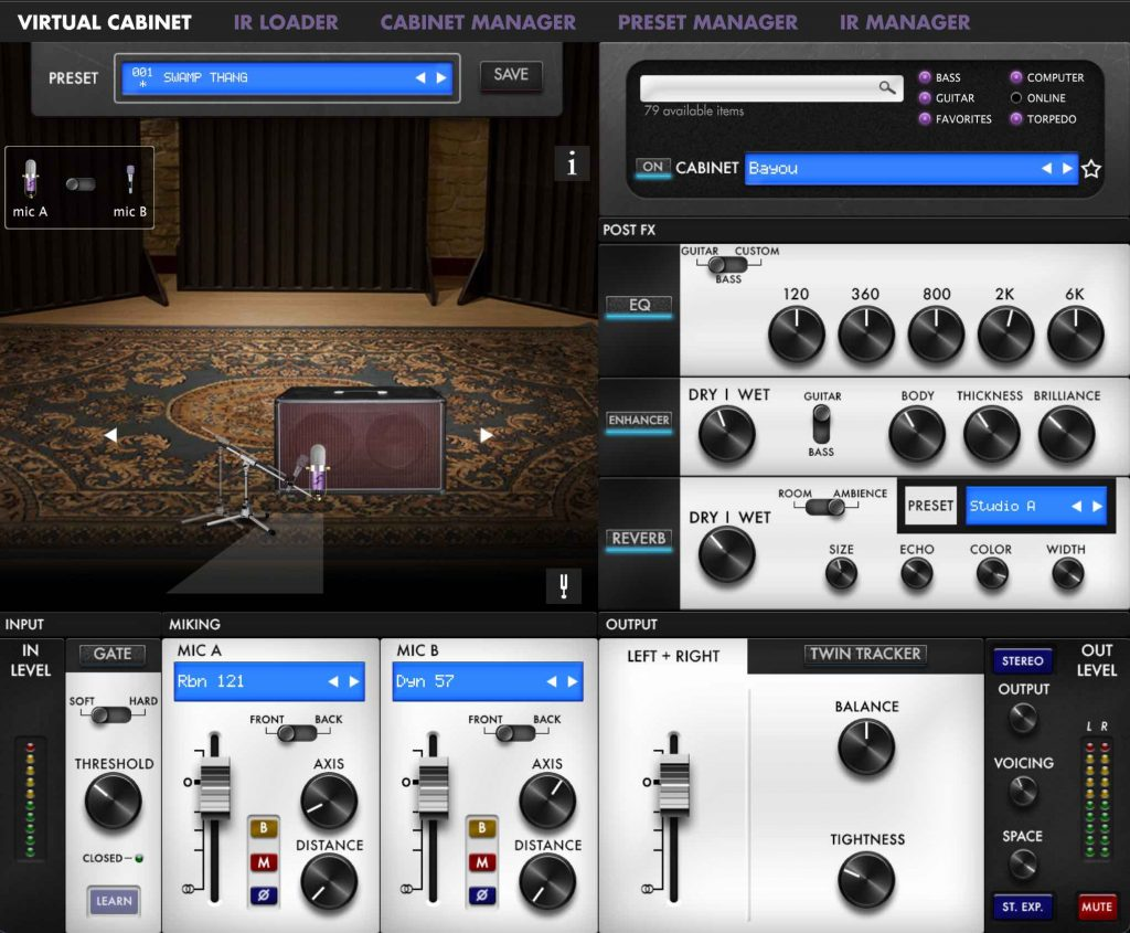 Two-Notes Captor X Virtual Room and Microphone